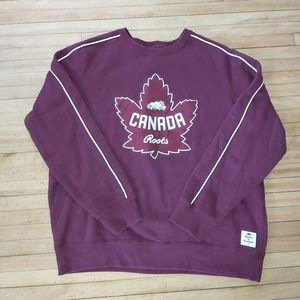 Roots Burgundy Canada Sweater